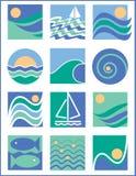 Molhe logotipos Fotografia de Stock Royalty Free