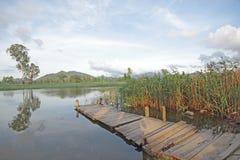 Molhe no lago fotografia de stock royalty free