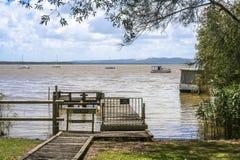 Molhe no lago fotografia de stock