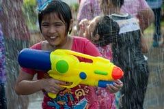 Molhe o festival em Tailândia. Imagem de Stock Royalty Free