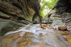 Molhe o laeng de Wang Sila da queda, laeng de Grand Canyon Wang Sila, Pua District, Nan, Tailândia Imagem de Stock