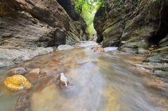 Molhe o laeng de Wang Sila da queda, laeng de Grand Canyon Wang Sila, Pua District, Nan, Tailândia Imagens de Stock