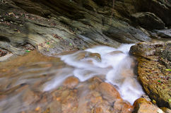 Molhe o laeng de Wang Sila da queda, laeng de Grand Canyon Wang Sila, Pua District, Nan, Tailândia Imagens de Stock Royalty Free