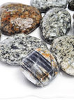 Molhe pedras mottled fotografia de stock