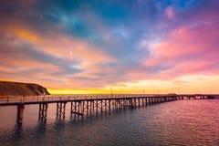Molhe rápido da baía, Sul da Austrália Fotografia de Stock