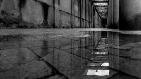 Molhe a reflexão em um salão estreito em Copenhaga Fotos de Stock