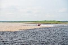 Molhe a reunião no rio de Brasil - de amazon com rio del negro Imagem de Stock Royalty Free