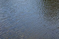 Molhe a textura na superfície de um corpo de água com uma onda Foto de Stock Royalty Free