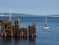 Molhe velho no porto Townsend Imagem de Stock Royalty Free