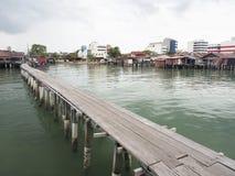 Molhes do clã, Penang imagens de stock