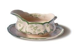 Molho-barco da porcelana do vintage foto de stock royalty free