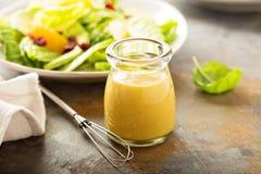 Molho caseiro da salada da mostarda do mel Imagem de Stock