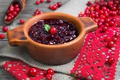 Molho caseiro do Lingonberry Foto de Stock