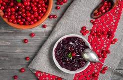 Molho caseiro do Lingonberry Imagem de Stock Royalty Free