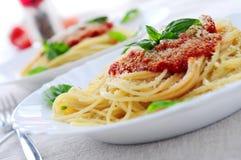 Molho da massa e de tomate Foto de Stock Royalty Free
