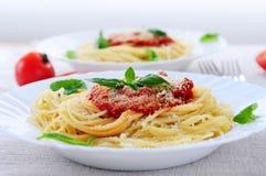 Molho da massa e de tomate Imagem de Stock Royalty Free