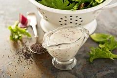 Molho da salada da semente de papoila Fotografia de Stock
