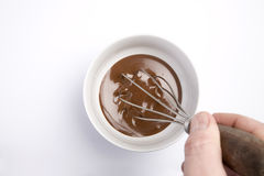 Molho de chocolate fotografia de stock royalty free