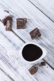 Molho de chocolate escuro imagem de stock royalty free