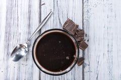 Molho de chocolate escuro fotografia de stock royalty free