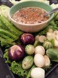 molho de pimentões da pasta do camarão Foto de Stock Royalty Free