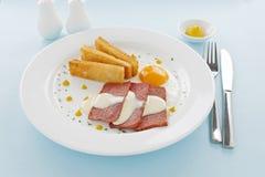 Molho de queijo e Spam Fotografia de Stock Royalty Free