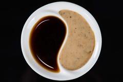 Molho de soja na placa Yin Yang Imagem de Stock Royalty Free