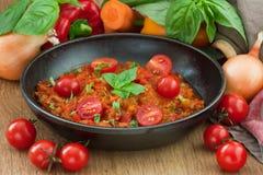 Molho de tomate bolonhês Foto de Stock