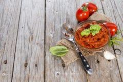 Molho de tomate caseiro Imagens de Stock