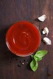 Molho de tomate caseiro Foto de Stock Royalty Free