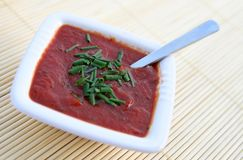Molho de tomate com salsa Imagens de Stock