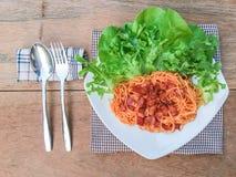 Molho de tomate dos espaguetes Foto de Stock Royalty Free
