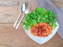Molho de tomate dos espaguetes Imagens de Stock