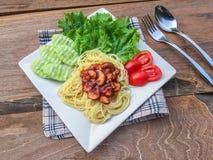 Molho de tomate dos espaguetes Imagem de Stock