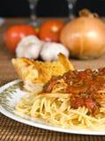 Molho do espaguete & da carne Fotografia de Stock Royalty Free