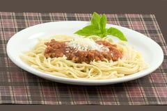 Molho do espaguete e da carne Imagens de Stock
