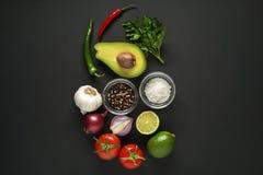 Molho do Guacamole com abacate Foto de Stock Royalty Free