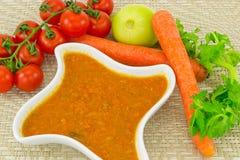 Molho e cenouras de tomate Imagens de Stock Royalty Free