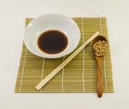 Molho e feijão de soja de soja Imagens de Stock