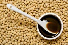 Molho e feijões de soja foto de stock royalty free