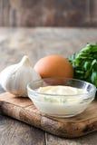 Molho e ingredientes de Aioli Imagens de Stock Royalty Free