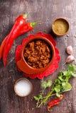Molho flavored picante quente de Adjika ou de ajika fotografia de stock royalty free