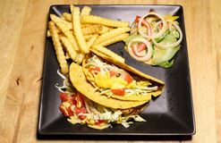 Molho Mexican American Tailândia do estilo do taco Imagem de Stock