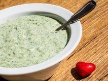 Molho verde da salsicha tipo frankfurter Imagens de Stock Royalty Free