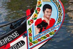 Moliceiro łódź Obrazy Royalty Free