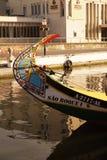 Moliceiro boat in Aveiro Royalty Free Stock Image