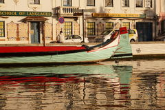 Moliceiro boat in Aveiro Stock Photo