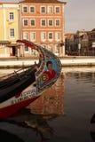 Moliceiro boat in Aveiro Stock Photography