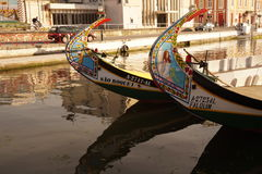 Moliceiro boat in Aveiro Stock Images