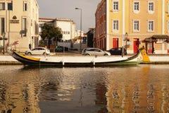 Moliceiro boat in Aveiro Stock Photos